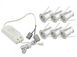 1W Mini LED Downlight, 6 PCS per Unit